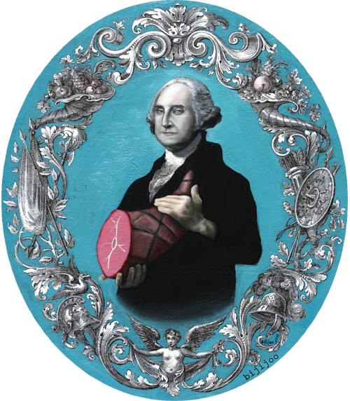 George Washington with Ham