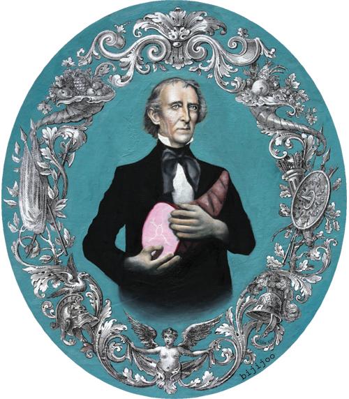 John Tyler with Ham