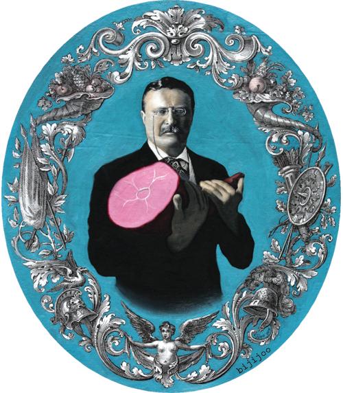 Theodore Roosevelt with Ham