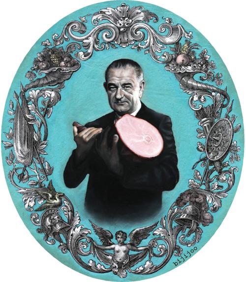 Lyndon Johnson with Ham