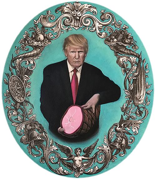 Donald Trump with Ham